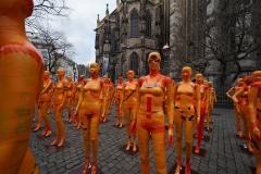 """Installation """"Broken"""" - von Dennis Josef Meseg - Standort  Aachen Münsterplatz"""