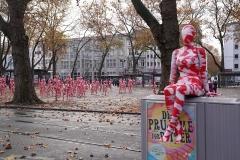 """Installation """"It is like it is"""" - von Dennis Josef Meseg - Standort Köln Neumarkt / Karneval 11.11.2020"""