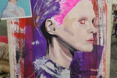 Portrait Studienvorbereitung - Acryl auf Papier - 100x70