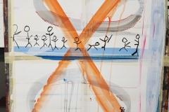 Acryl und Edding auf Papier ca. 100x70