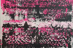 Abstrakte Arbeit 1/2 - 2019 - Acryl auf Leinwand 100x70cm