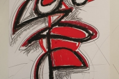 Der Tanz - Öl Pastel auf Papier