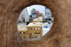 Buchenholz auf Betonsockel ca. 100cm hoch