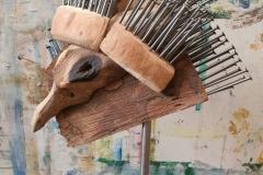 Paradiesvogel - Holz-Nagel-Plastik 35cm