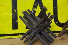 My destination - Stahlplastik 20x20cm (Prototyp)