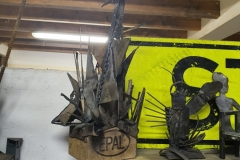 O.T. Holz-/ Stahlplastik 20x45cm