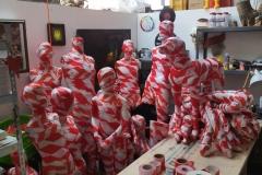 Entstehung Corona-Mahnmal 2020 - Atelier Alfter - Die Angst des Einzelnen