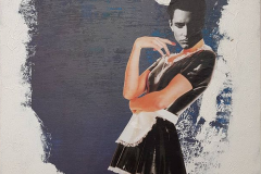 Acryl auf Leinwand mit Collage-Arbeit