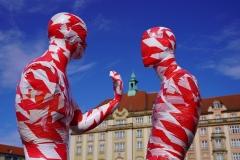 "Corona Kunst - Installation ""It is like it is"" - Corona-Mahnmal Dennis Josef Meseg - Dresden / Altmarkt Kulturpalast Striezelmarkt"