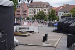 "Corona Kunst - Installation ""It is like it is"" - Corona-Mahnmal Dennis Josef Meseg - Erfurt / Domplatz"