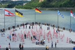 "Corona Kunst - Installation ""It is like it is"" - Corona-Mahnmal Dennis Josef Meseg - Koblenz / Kurfürstliches Schloss und Deutsches Eck"