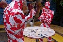 """Corona Kunst - Installation """"It is like it is"""" - Corona-Mahnmal Dennis Josef Meseg - Köln / Odonien"""