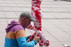 "Corona Kunst - Installation ""It is like it is"" - Corona-Mahnmal Dennis Josef Meseg - Leipzig Augustusplatz Gewandhaus Oper Leipzig"
