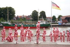 "Corona Kunst - Installation ""It is like it is"" - Corona-Mahnmal Dennis Josef Meseg - Stade / Am Sande und Stadthafen"