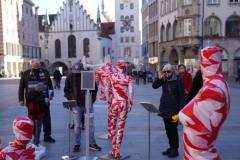 """Installation """"It is like it is"""" - von Dennis Josef Meseg - Standort München Marienplatz"""