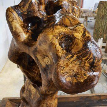 Romantisiert - 280 Jahre alter Olivenstamm gewachst ca. 120cm