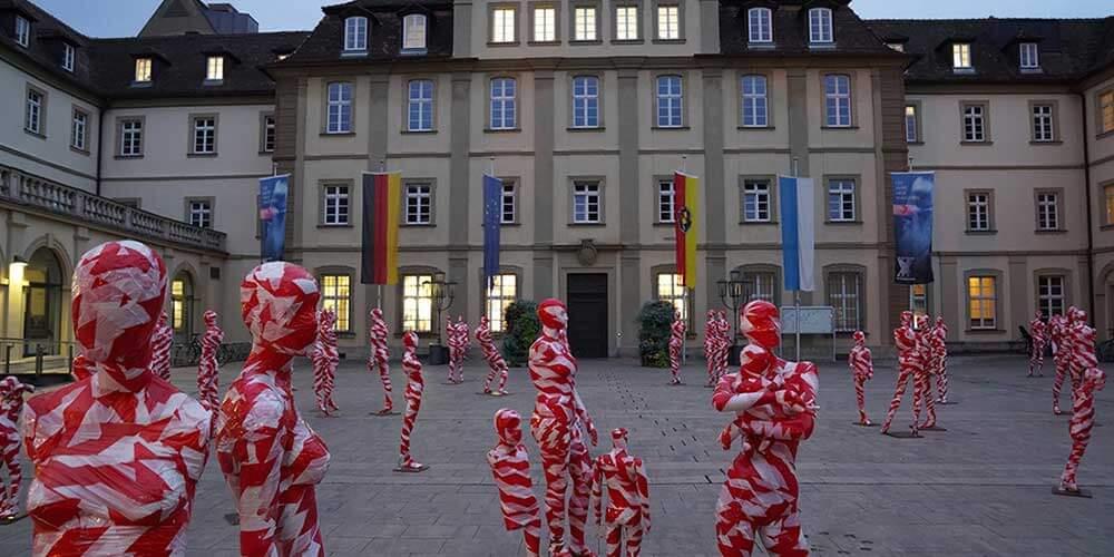 """Installation """"It is like it is"""" - von Dennis Josef Meseg - Standort Würzburg"""