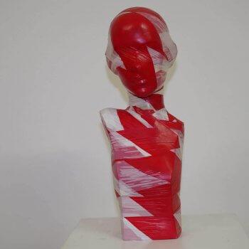 Flatterband Torso No.1 - Unikat.; Höhe: ca. 50 cm; handsigniert - von Dennis Josef Meseg