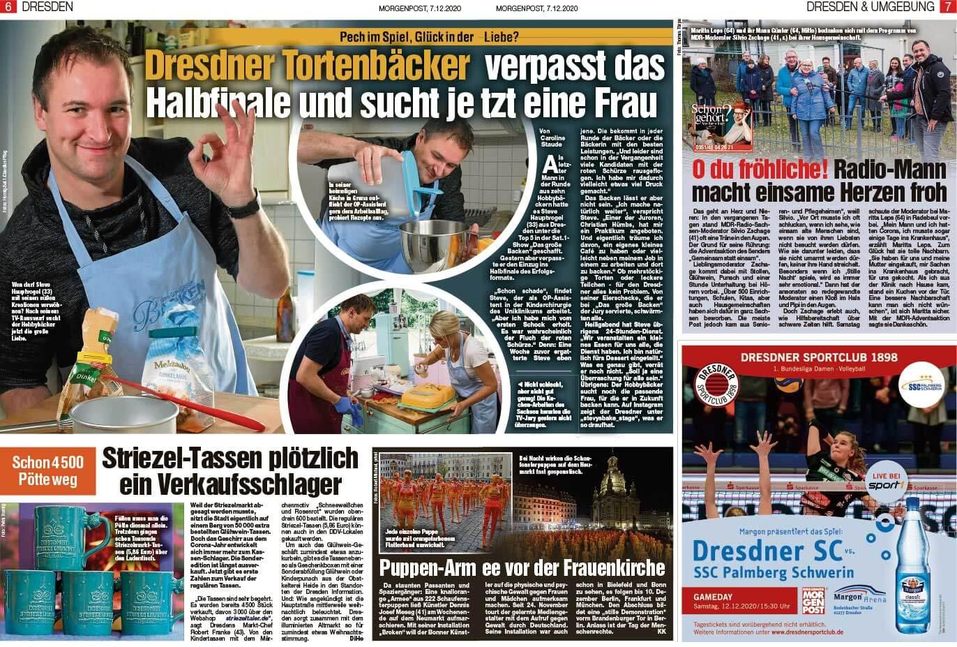 """Installation """"Broken"""" - von Dennis Josef Meseg - Presse Dresdner Morgenpost 07.12.2020"""