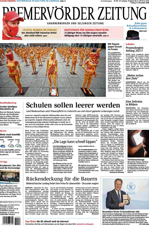 """Installation """"Broken"""" - von Dennis Josef Meseg - Bremervörder Zeitung 11.12.2020"""
