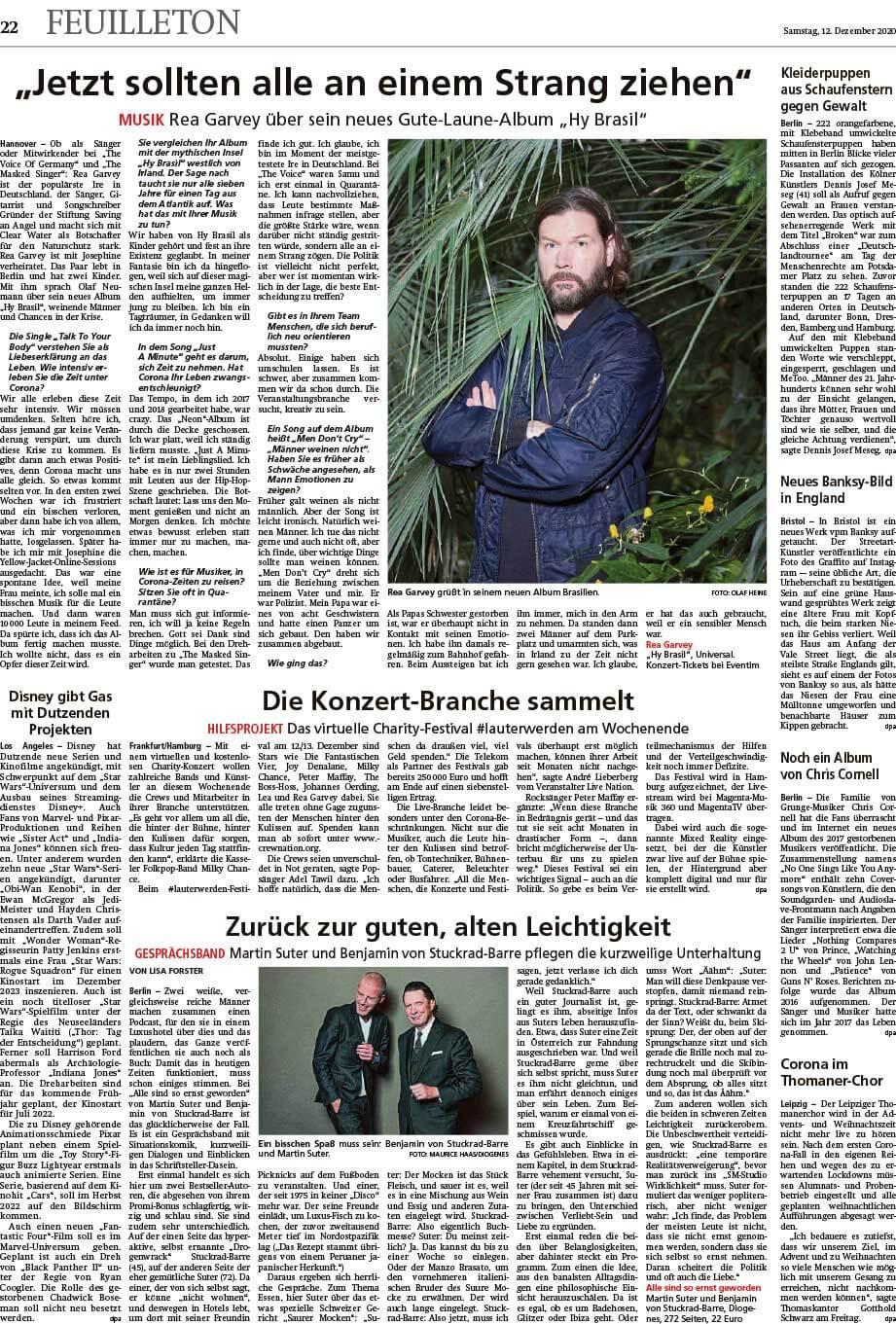 """Installation """"Broken"""" - von Dennis Josef Meseg - Frankfurter Neue Presse 12.12.2020"""