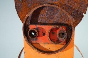 Herz aus Stahl- Stahl ca. 30kg - von Dennis Josef Meseg - Detail