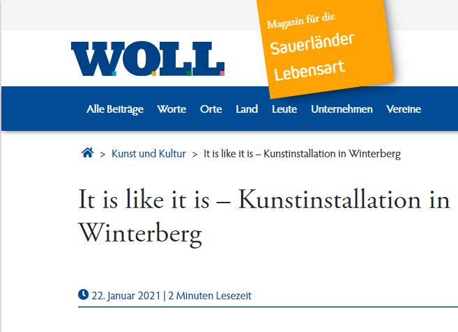 """Installation """"It is like it is"""" - von Dennis Josef Meseg - Woll Magazin"""