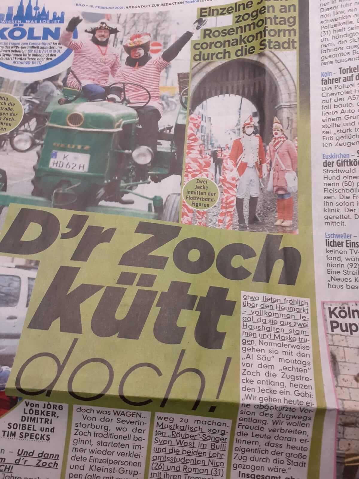 "Corona Kunst - Installation ""It is like it is"" - Corona-Mahnmal Dennis Josef Meseg - Bild-Zeitung 15.02.2021"