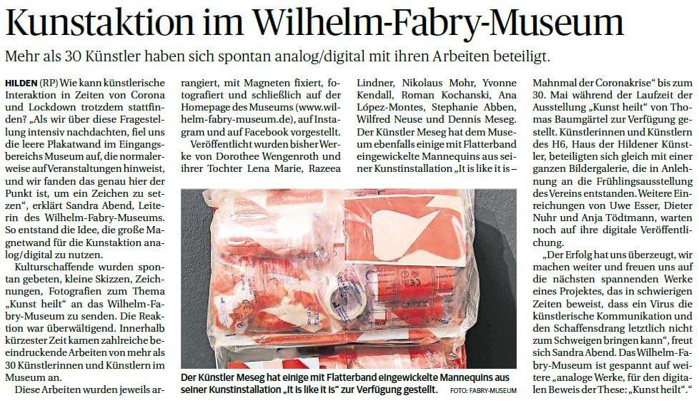 Rheinische Post Hilden vom 04.05.2021