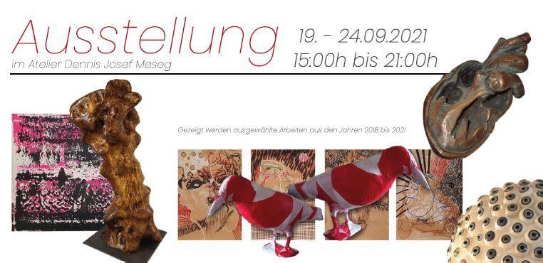 Flyer Klappkarte Ausstellung 2021 Wesseling