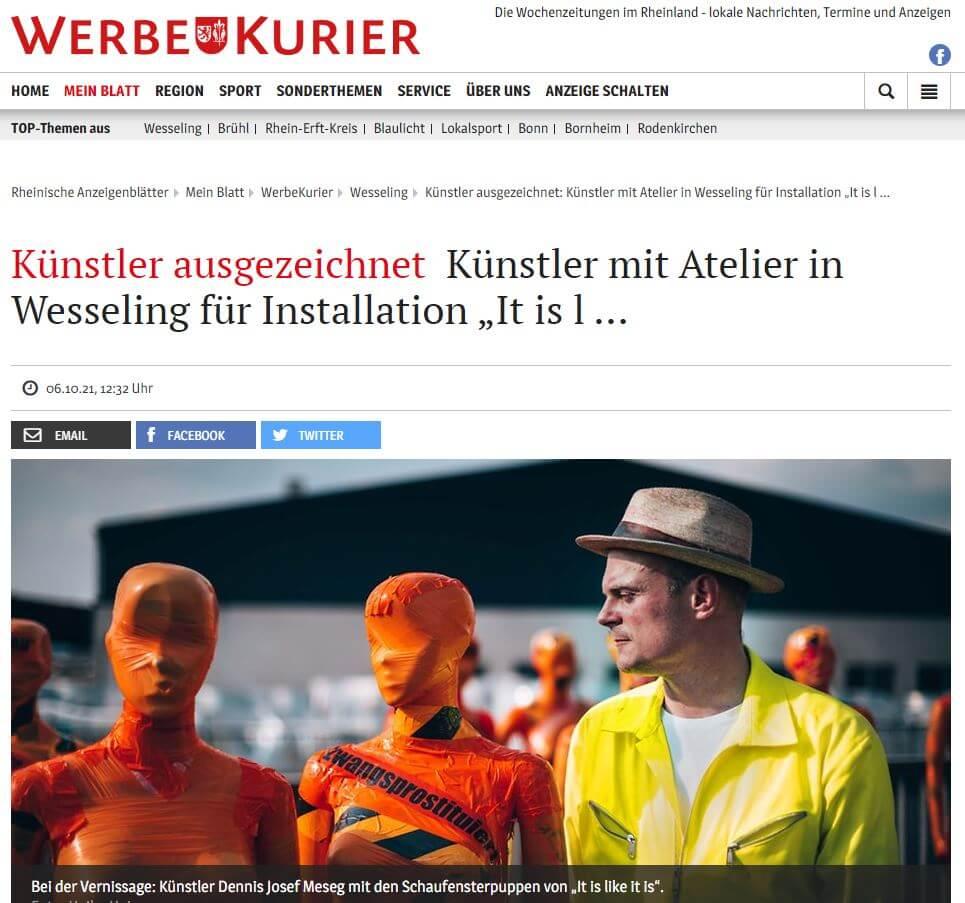 Dennis Josef Meseg It is like it is werbekurier 06.10.2021
